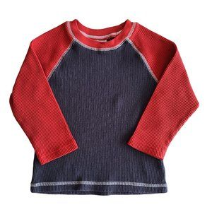 🍒3/$20🍒 MINIBOOTS Navy & Red Long Sleeve 4T